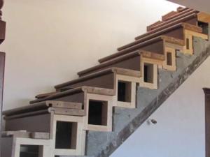 отделка бетонной лестницы деревом фото