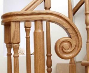 поручни для лестниц из дерева фото