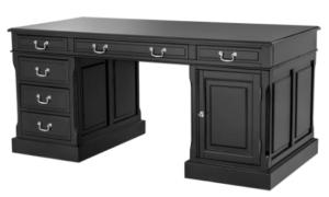 стол для кабинета домашнего темного цвета фото